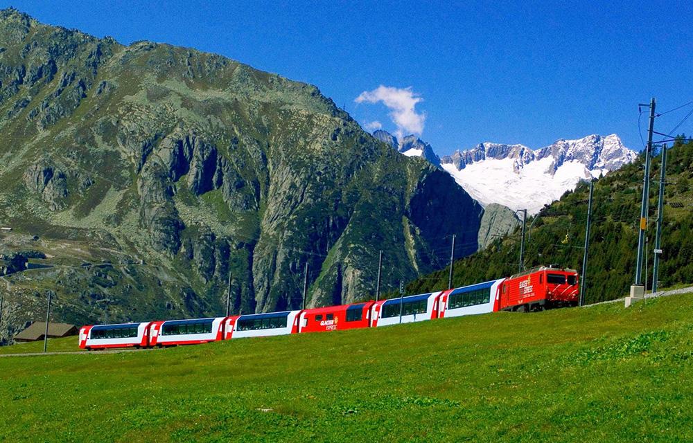 Viagem de trem Alpes Suíços 60mais