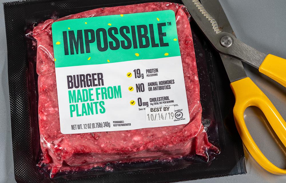Comida do futuro hambúrguer feito a base de plantas 60 mais