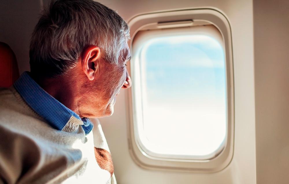 Viajar de avião em baixa temporada 60 mais