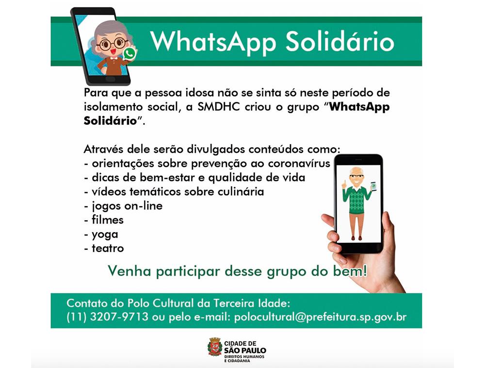WhatsApp Solidário Cidade de São Paulo 60 mais