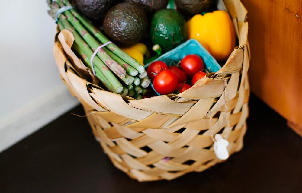 Cesto de legumes e vegetais - 60 mais