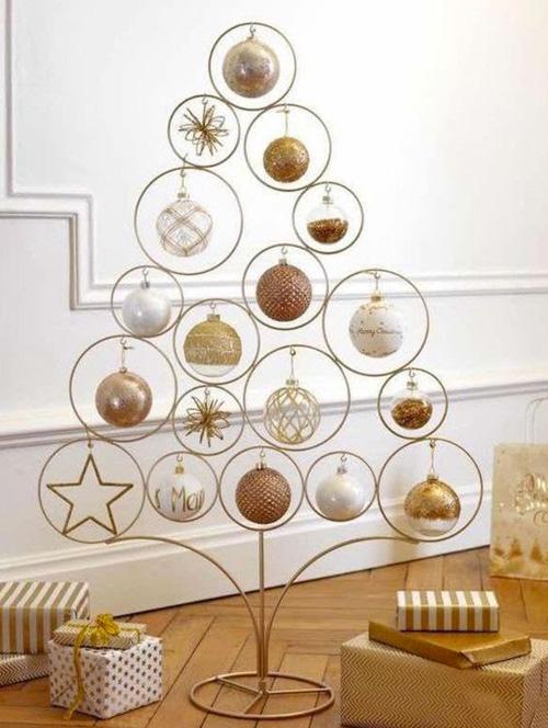 Decoração de Natal - árvore com estrutura metálica - 60 mais