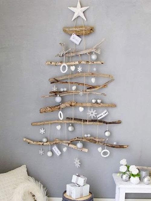 Decoração de Natal - árvore na parede - 60 mais