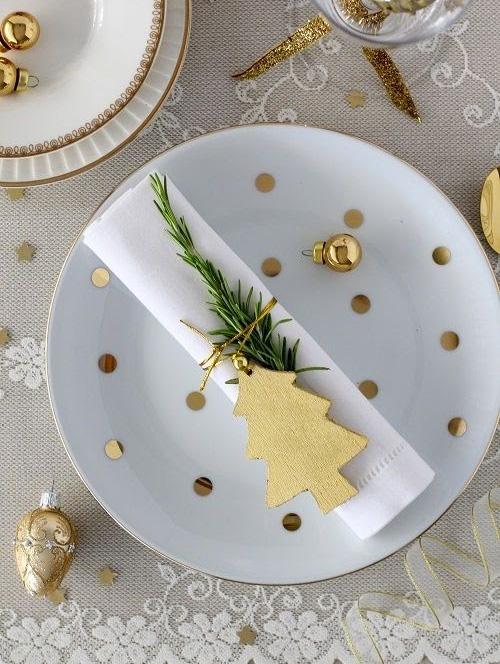 Mesa natalina dourada - 60 mais