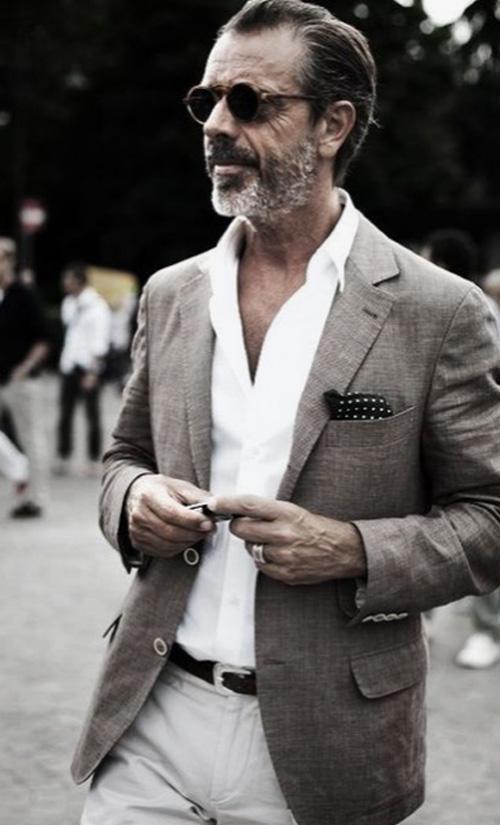 Dicas de moda masculina com blazer - 60+