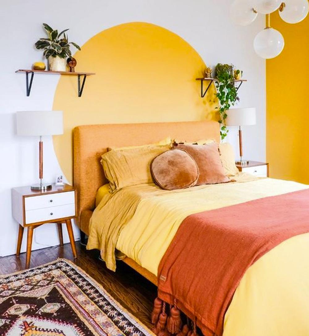 Decoração com paredes coloridas - 60+